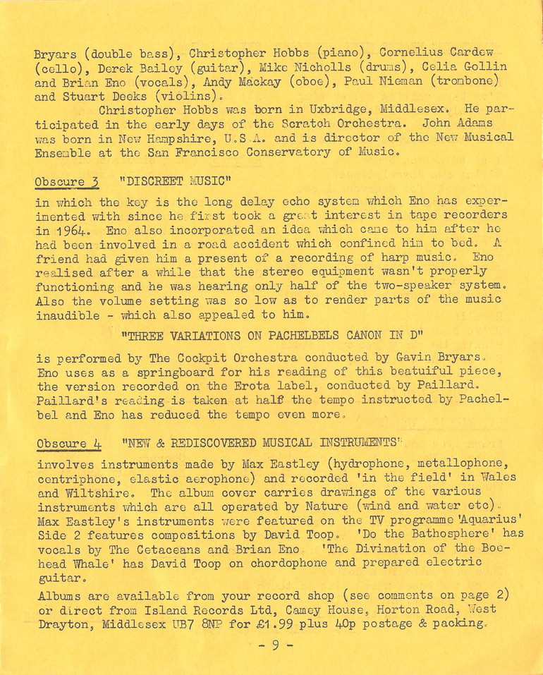 Enovations Newsletter May 1976 (page 9)