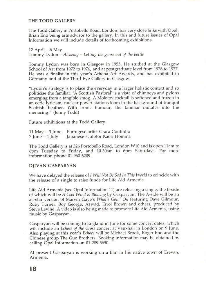 Opal Information: Number 12 (page 18)