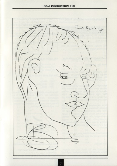 Opal Information: Number 20 (page 7 - Brian Eno self-portrait)