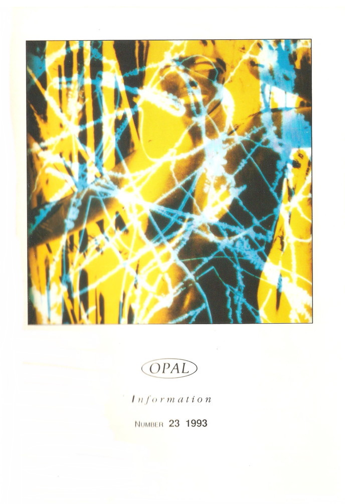 Opal Information: Number 23 (front cover)