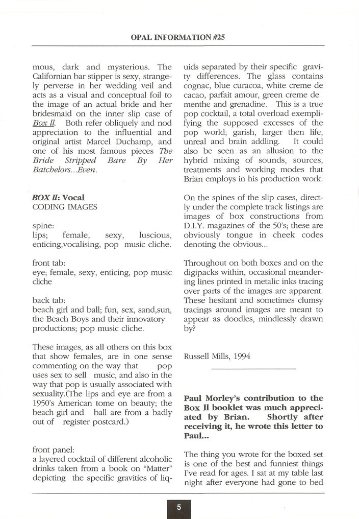 Opal Information: Number 25 (page 5)